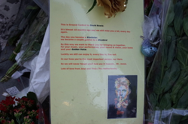 Brixton's David Bowie shrine - photos of tributes left during November 2016