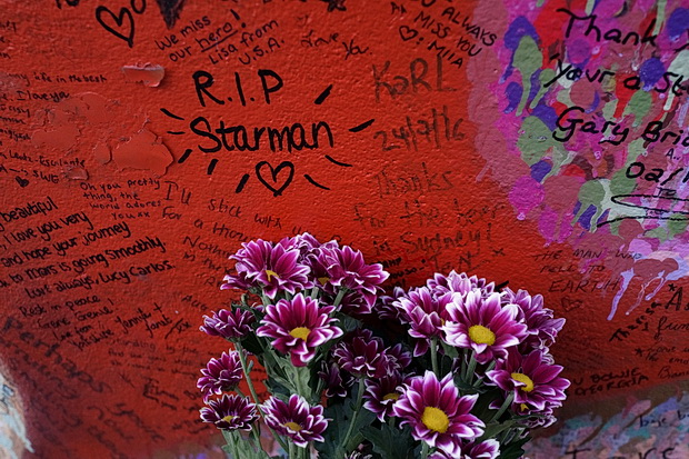 Photos: Brixton's David Bowie shrine - tributes left during October 2016