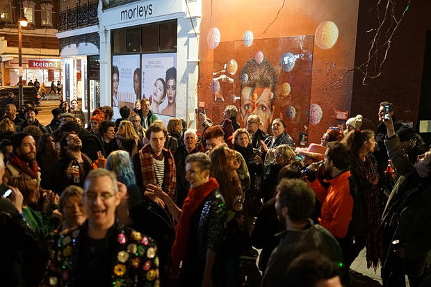 Right now: David Bowie street party in Brixton, Tuesday 10th January 2017