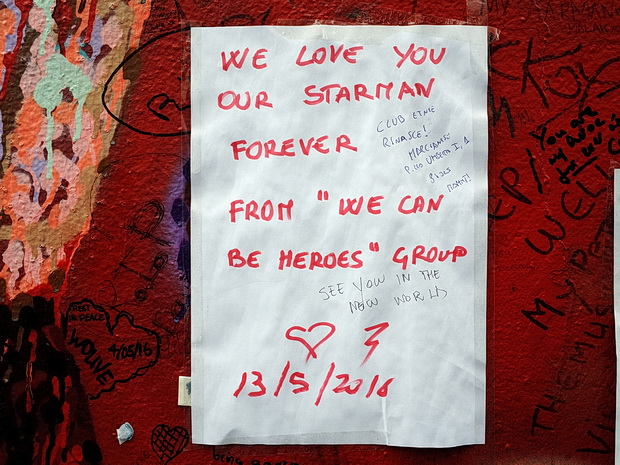 Tributes keep on coming to David Bowie's Brixton shrine