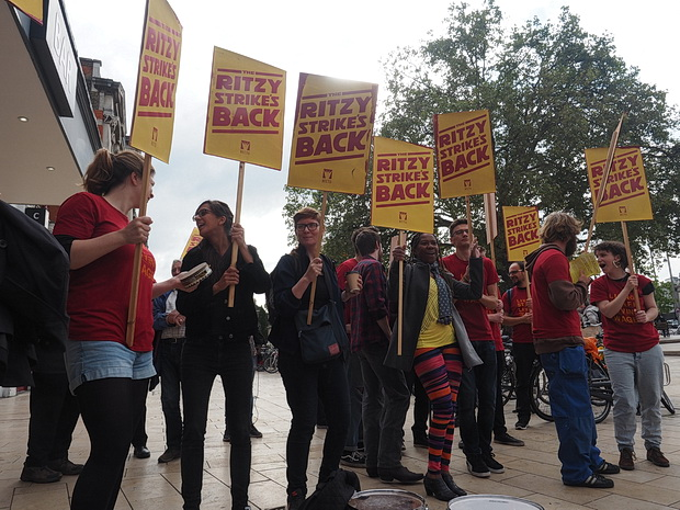 In photos: Brixton Ritzy workers close down the cinema for their second strike action of the year, Friday 7th October 2016