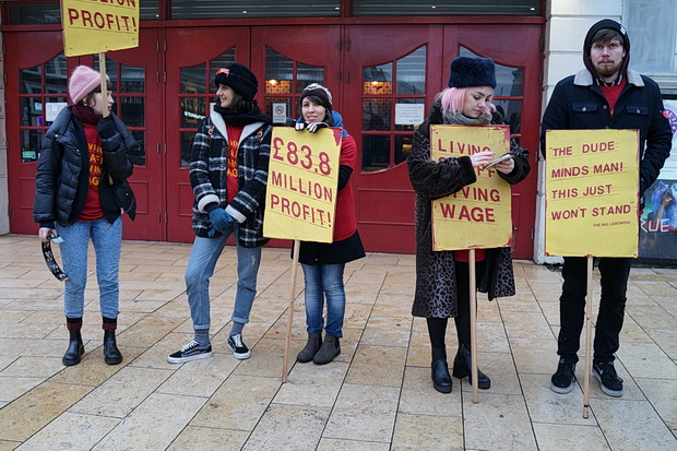 In photos: Brixton Ritzy workers take part in largest ever cinema workers strike. Saturday 11th February 2017