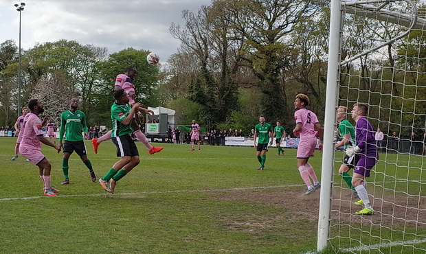 Dulwich Hamlet net three in leafy Burgess Hill to stay in third place, Saturday 15th April 2017