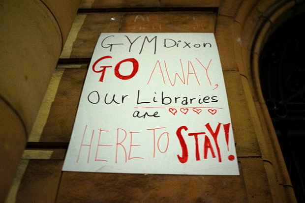 Carnegie Library - after the protest. Photos of the messages left outside the closed library, April, 2017