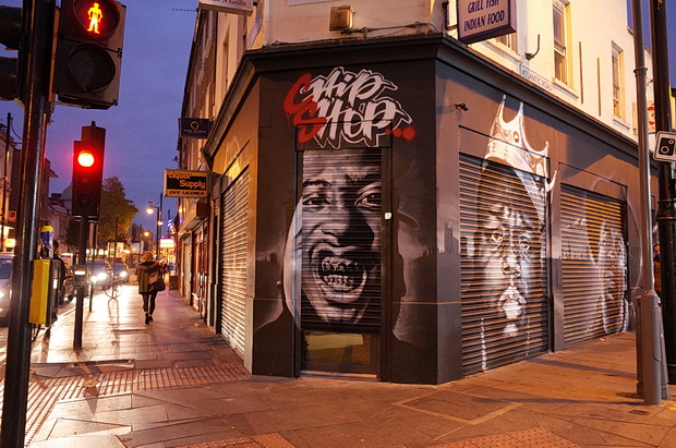 Chip Shop Brixton gets ready to serve up with 'fish, chips and old skool hip-hop', Atlantic Road, Brixton SW9, October 2015