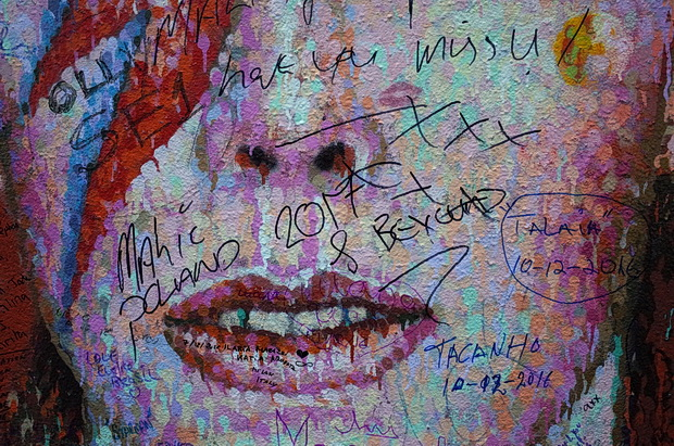 Brixton David Bowie mural defaced by 'fans', December 2016