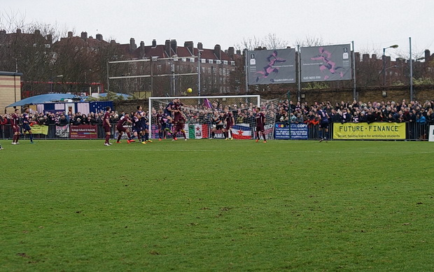 Divots and dogs galore, but no victory as Dulwich Hamlet held at home by Wingate, Friday 31st Dec 2016