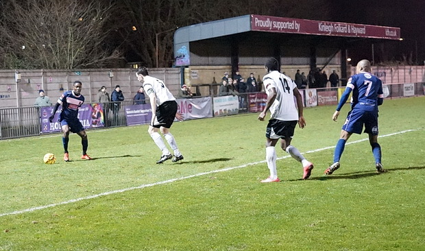 Dulwich Hamlet grind out a 2-1 victory against Faversham in the Whats-His-Name Cup. Tuesday 10th January 2017