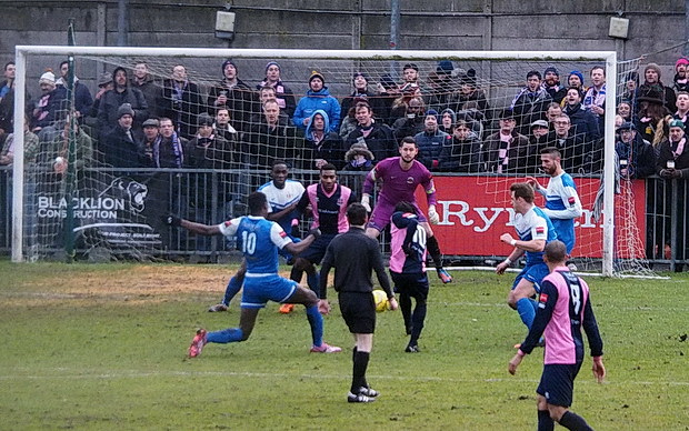 Fifty shades of joy as Dulwich Hamlet see off Grays Athletic 2-0, Saturday 31st January, 2015