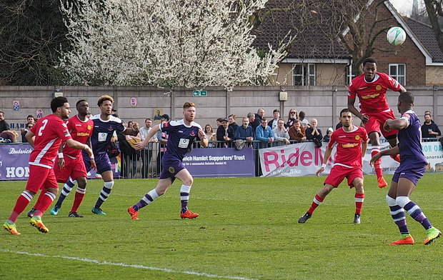 Dulwich Hamlet thrash hapless Merstham 5-0. Saturday 11th March 2017