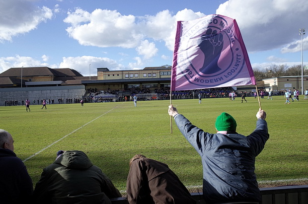 Dulwich Hamlet draw 2-2 with Enfield Town, courtesy of a bizarre refereeing decision, 22nd March 2014
