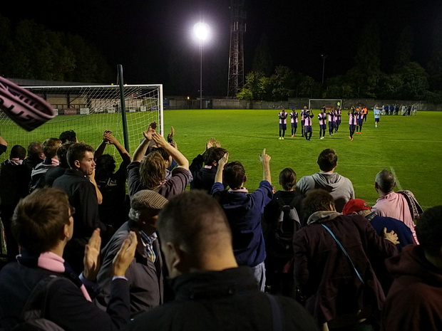 Dulwich Hamlet thump Peacehaven 3-1 in lively evening game at Champion Hill, Tuesday 19th  August 2014