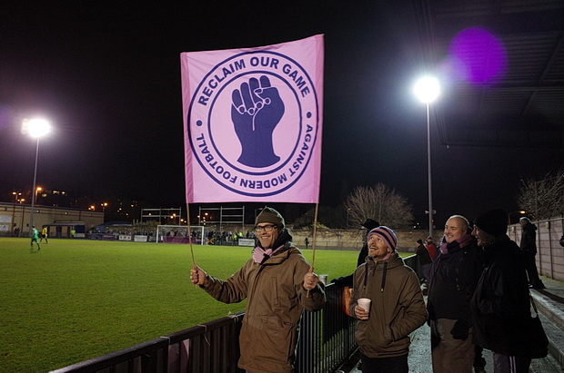 Twirling scarves celebrate Dulwich Hamlet's 2-0 win over Thamesmead Town, 11th February, 2014