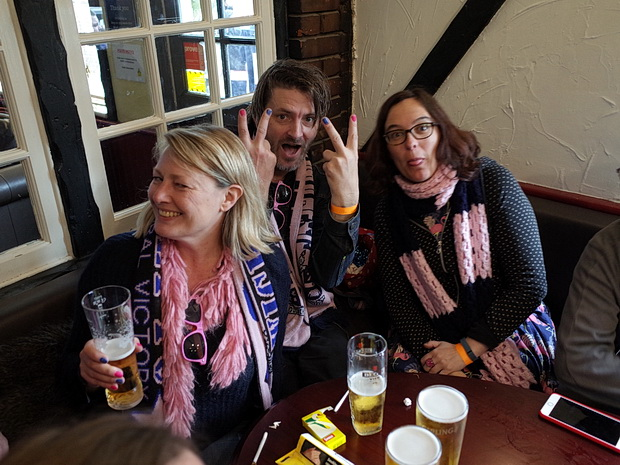 Huge travelling support sees Dulwich Hamlet lose play off final in East Thurock, Bank Holiday Monday 2nd May