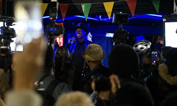 In photos: Eddy Grant turns on the Electric Avenue illuminated sign, Monday 17th October 2016