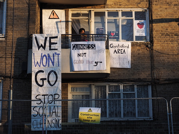 Guinness Trust smashes up its own property as it tries to evict Brixton tenants, Sunday 15th February 2015