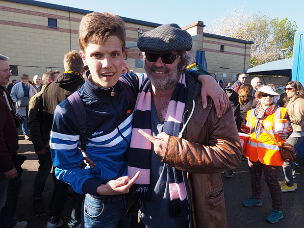 Dulwich Hamlet look good for the play offs, as record breaking crowd watches nil-all draw against league leaders Maidstone, Sat 18th April, 2015