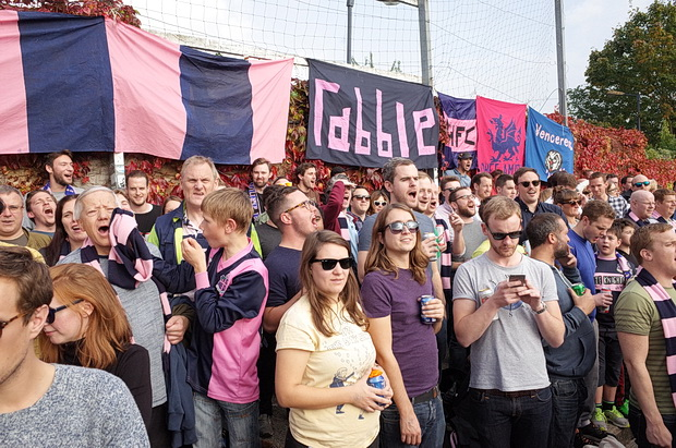 A goal feast as Dulwich Hamlet make it 5-2 against VCD Athletic in front of 2,000 fans, Saturday 3rd October 2015