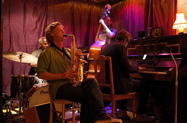 Jazz jam at The Junction bar in Coldharbour Lane, Loughborough Junction, south London, Tuesday 15th September 2015