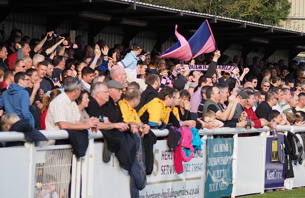Dulwich Hamlet desperately unlucky to lose 3-4 at Maidstone in front of a massive crowd, Gallagher Stadium, James Whatman Way, Maidstone, Kent ME14, Saturday, 15th March 20142