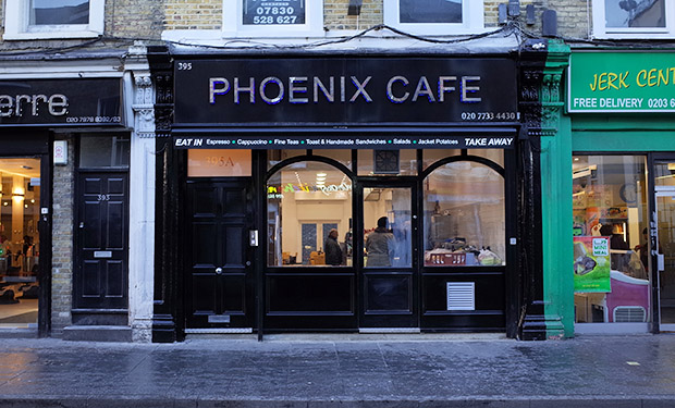 Phoenix Cafe reopens in new premises on Coldharbour Lane, Brixton, London SW9