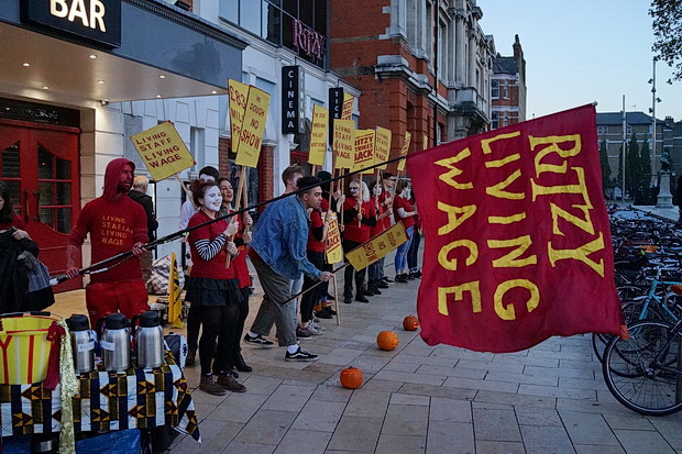 Brixton Ritzy Halloween strike - in photos, Monday 31st October 2016