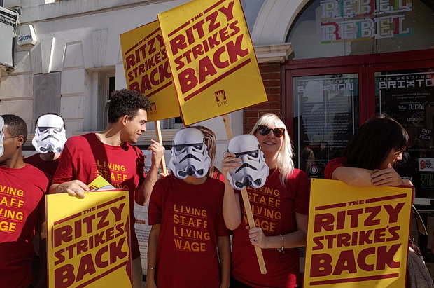 Brixton Ritzy Strike Is Back: cinema closed for the day as workers demand a fair wage, Saturday 24th September 2016