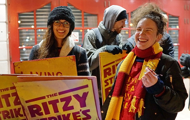 In photos: High spirits and low temperatures on the Brixton Ritzy workers' picket line, November 2016