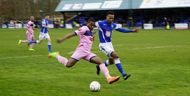 Tonbridge held at home by Dulwich Hamlet in a shirt-pulling extravaganza, Saturday 18th March 2017
