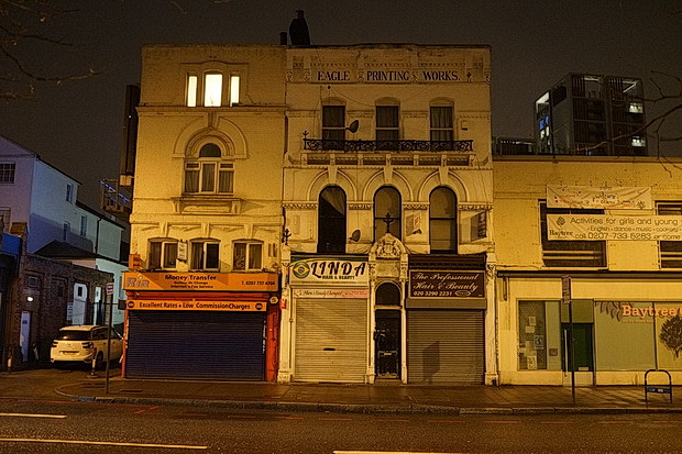 Late night Brixton on a cold and damp February evening: photos, February 2017