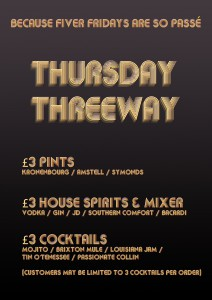 Thursday Threeway @ Kaff Bar | London | United Kingdom