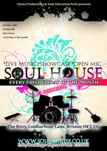 Chyna Productions & Soul Liberation Funk present Soul House @ Upstairs at The Ritzy | United Kingdom