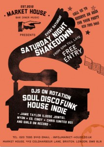 Saturday Shakedown with Leslie Love @ Market House | United Kingdom