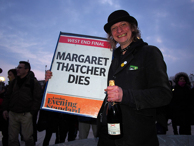 Brixton street party after Margaret Thatcher's death