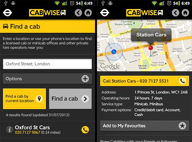 Taxi! Listing of taxi and minicab services in and around Brixton, south London