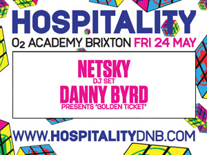 Hospitality with Netsky, Danny Byrd, Golden Ticket, High Contrast, London Elektricity, Camo & Krooked, S.P.Y, Metrik, Nu:Logic, MC Wrec, Dynamite MC, Lowqui, Serocee, Texas,. Reso, Culprate, Ivy Lab, Etherwood, Other Echoes, Paleman & Codec @ O2 Academy Brixton | London | United Kingdom