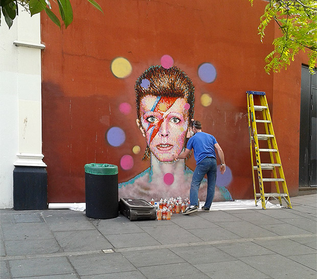 Brixton gets a Bowie mural on the side of Morleys department store, Tunstall Road, SW9