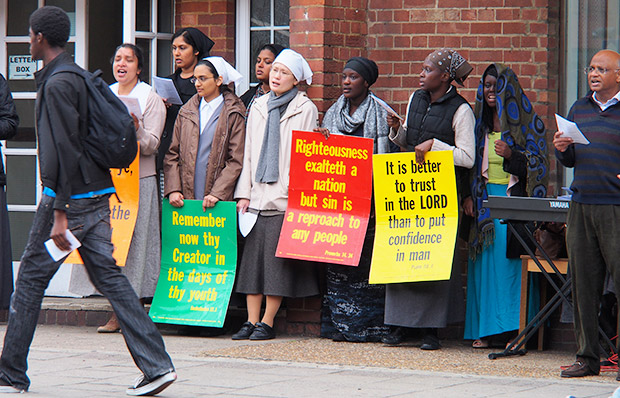 Photo feature: Pentecostal Church belt out the Godsquad songs on Brixton Hill