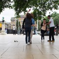 Salsa dancing in Windrush Square, Brixton