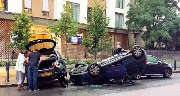 Car Crash In Brixton Today