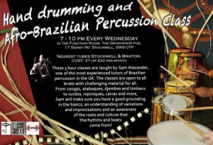Hand Drumming and Afro-Brazilian Percussion Class @ The Grosvenor | London | United Kingdom