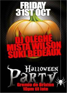 Brixton Rocks Halloween Fancy Dress Party @ Gremio de Brixton | London | United Kingdom