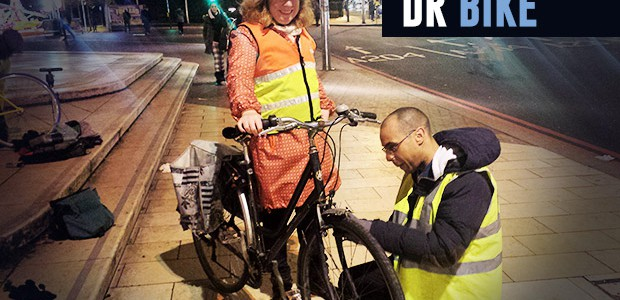 The good folks of the Dr Bike team of cycle mechanics will once again be on hand to attend to your creaking, wobbling, malfunctioning bicycles in Windrush Square, central Brixton.