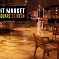 Brixton night market serves up street food in Windrush Square, 28th February 2014