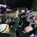 Twirling scarves celebrate Dulwich Hamlet's 2-0 win over Thamesmead Town