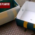 Brixton resident shows you how to make an attractive planter from Foxtons estate agent sign