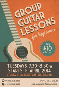 Group guitar lessons for beginners @ Studio b | London | United Kingdom