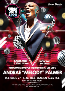"Andrae ""Melody"" Palmer live @ Dee Dee's Jazz and the Funk 