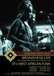 Bronzehead Live - 70's West African Funk @ Communion Bar | London | United Kingdom