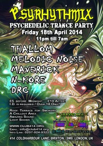 Psyrhythmix's psychedelic trance party @ Club 414 | London | United Kingdom